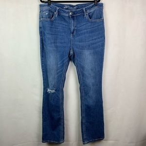 Seven7 Bootcut Jeans Plus Size 20W Blue Denim